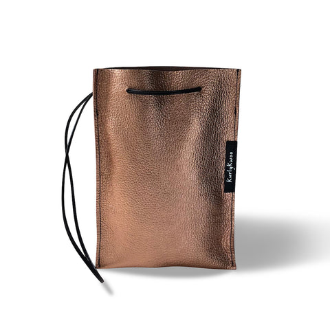 Festive Bag - Leather, Minimalist - Rose Gold