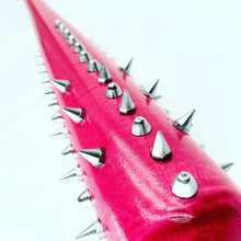 Load image into Gallery viewer, Studded and Spiked Ringed Pink Bat