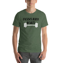 Load image into Gallery viewer, Excuses Block Results - Short-Sleeve Unisex T-Shirt