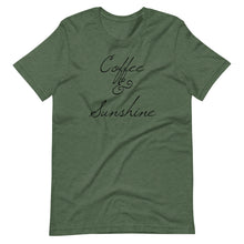 Load image into Gallery viewer, Coffee and Sunshine - Short-Sleeve Unisex T-Shirt