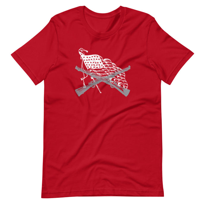 Guns With Flag - Short-Sleeve Unisex T-Shirt