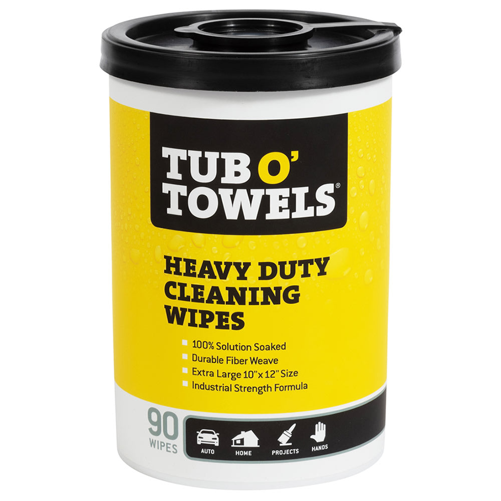 Tub O' Towels Heavy Duty Cleaning Wipes, 90-Count