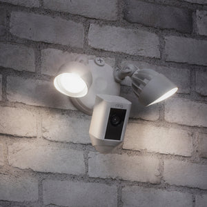 Flood Light Camera with Siren
