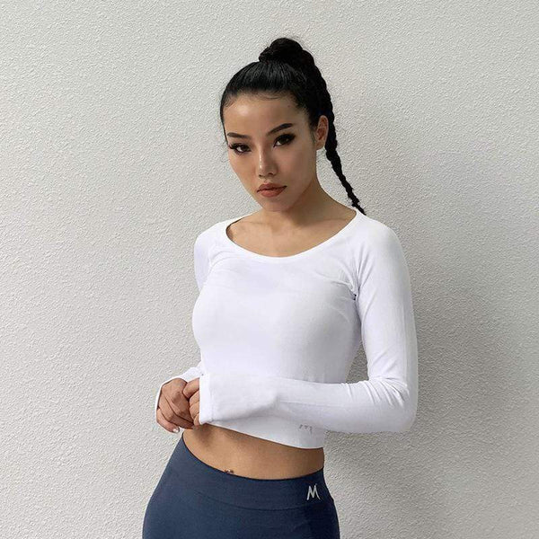 Trendy Slim Fit Quick Drying Fitness Yoga Top