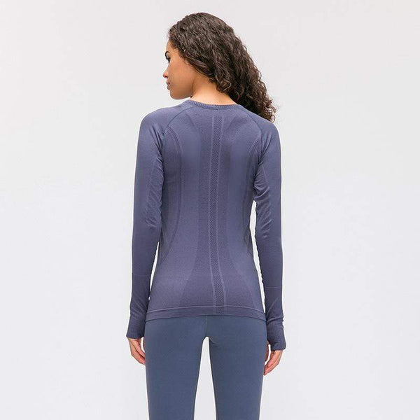 Crew Neck Slim and Breathable Yoga Long Sleeves