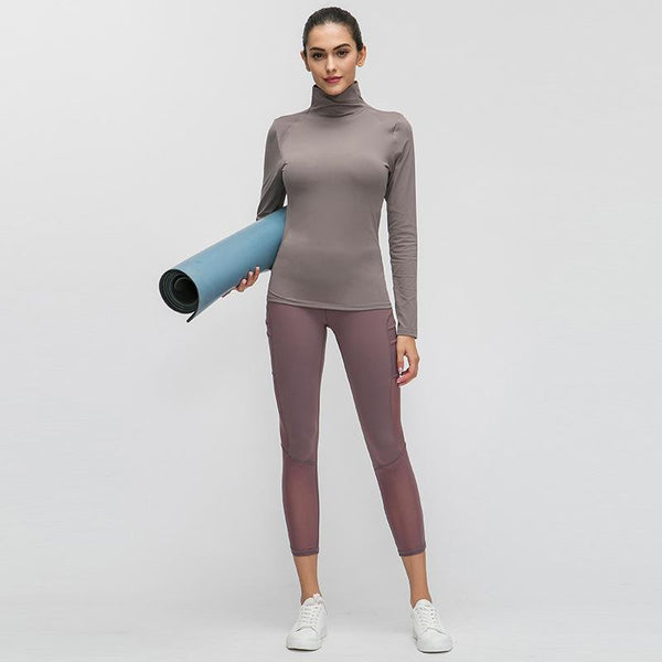 Skin Friendly Nude Fitness Top Stretch Slim Fit Long Sleeve