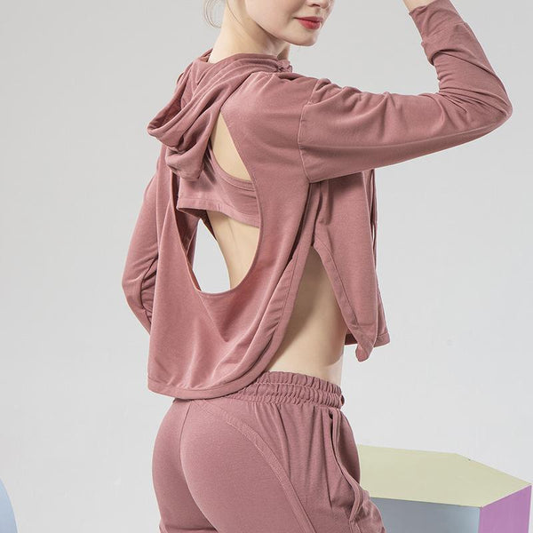 Sexy Backless Casual Hoddie