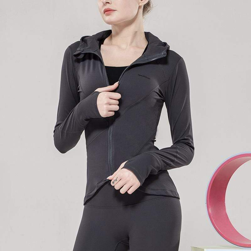 Grinding Nude Feel Tight Fitness Training Yoga Jacket