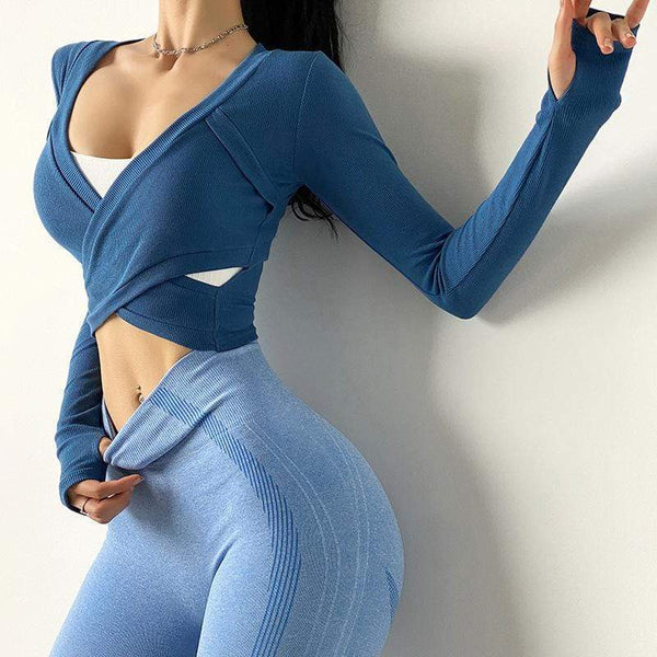 Stylish Tight Pure Colour Long Sleeve