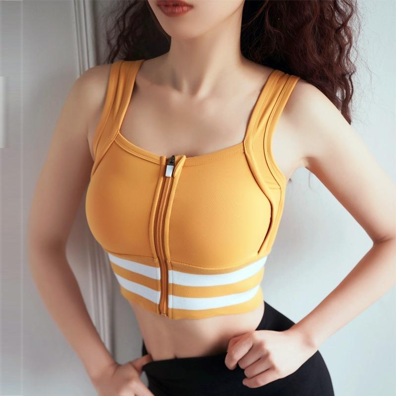 Shockproof Bra with Front Zipper