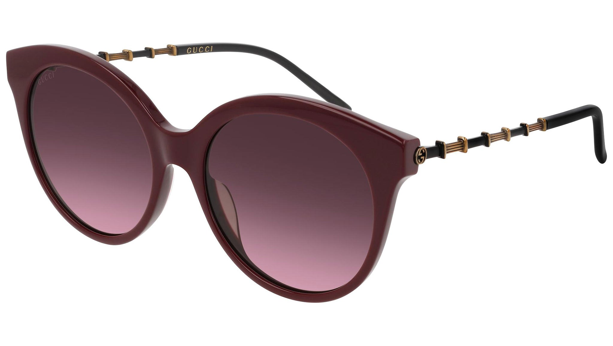GG0653S shiny burgundy and double violet/nude