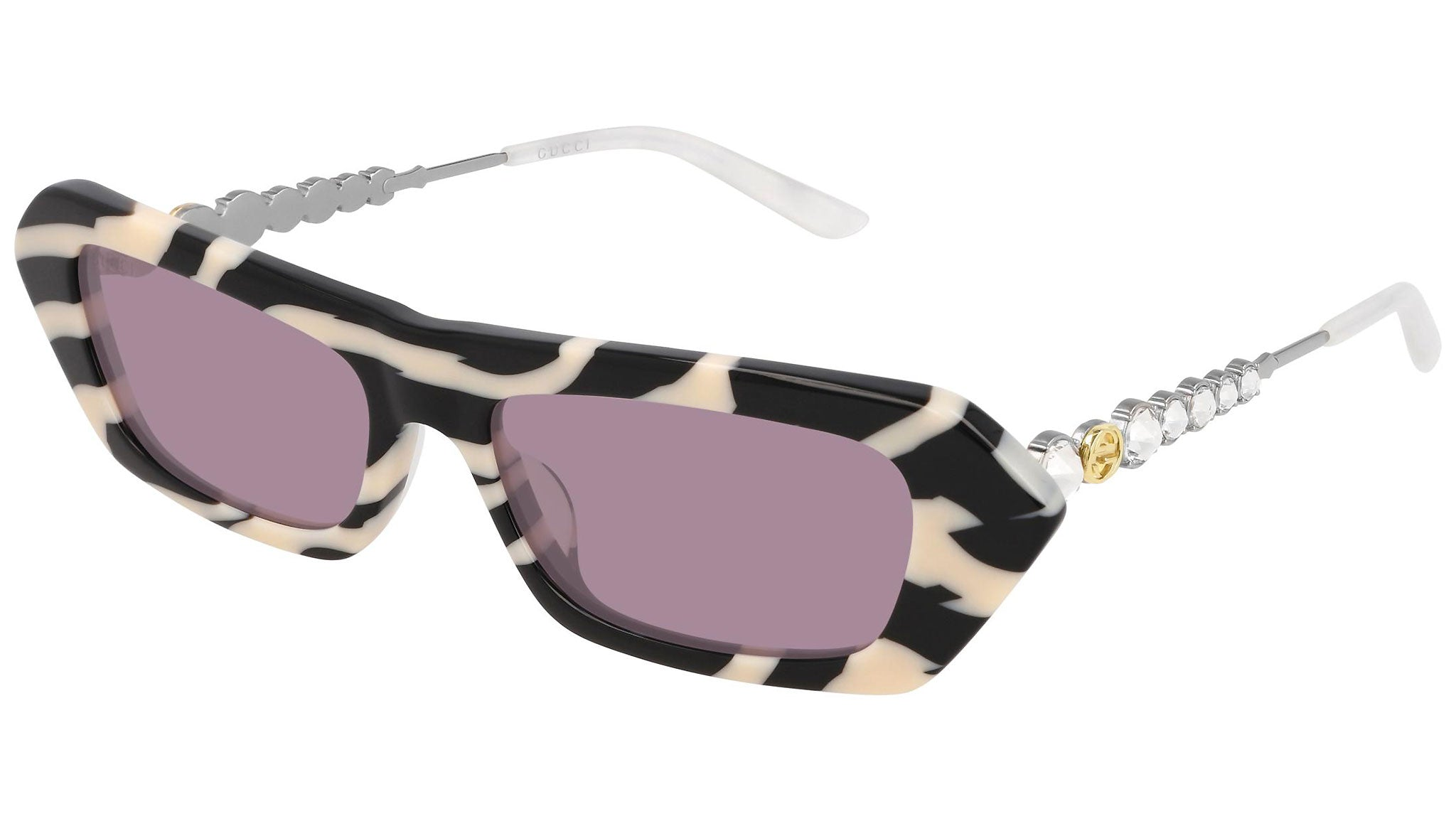 GG0642S ivory black and violet