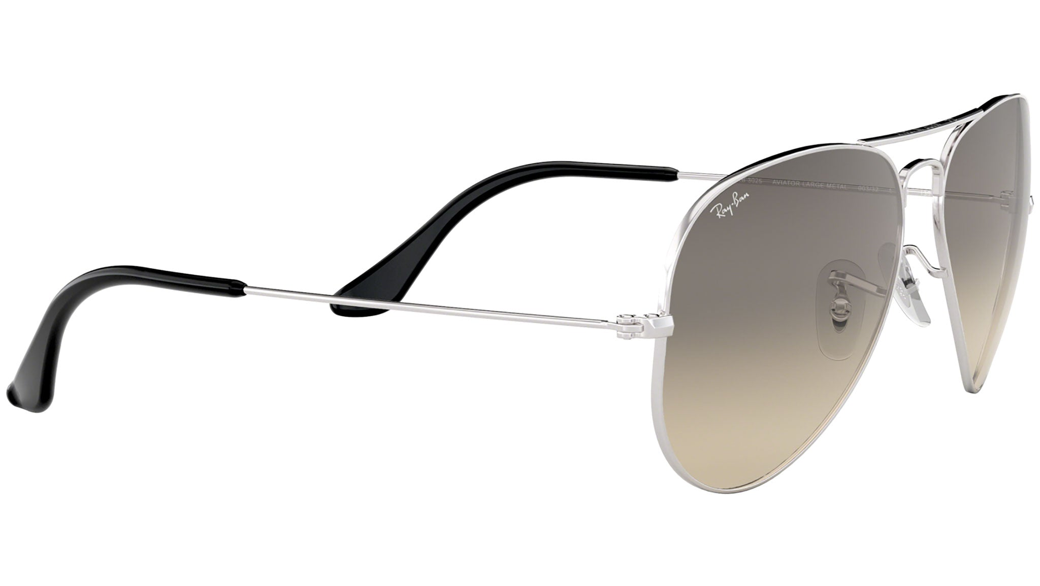 Aviator Gradient RB3025 silver metal grey