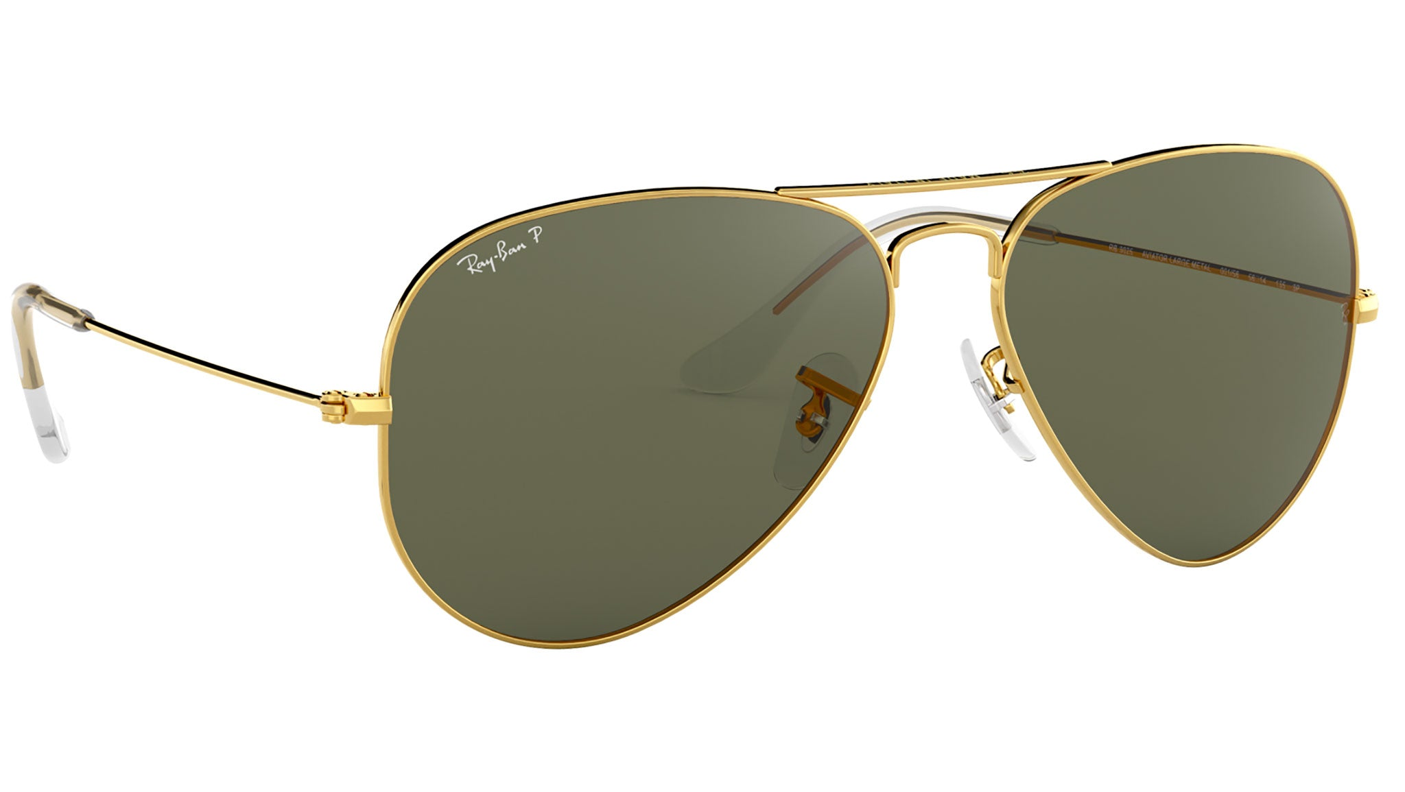 Aviator Classic RB3025 polished gold green