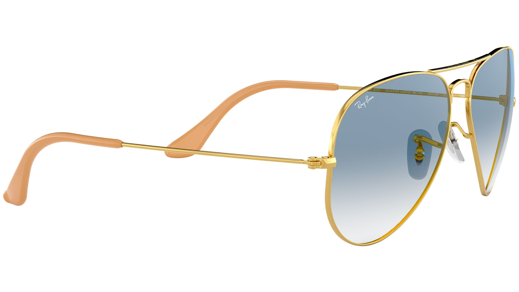 Aviator Gradient RB3025 gold metal blue