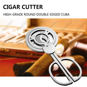 Open image in slideshow, Stainless Steel Triple Blade Cigar Cutter
