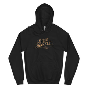 Open image in slideshow, Sticks & Barrel Vintage Logo Unisex Hoodie