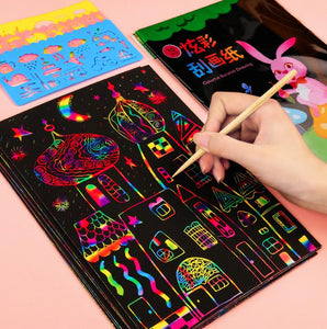 "Rainbow ""Scratch Art"" Paper - Pure craft fun!"