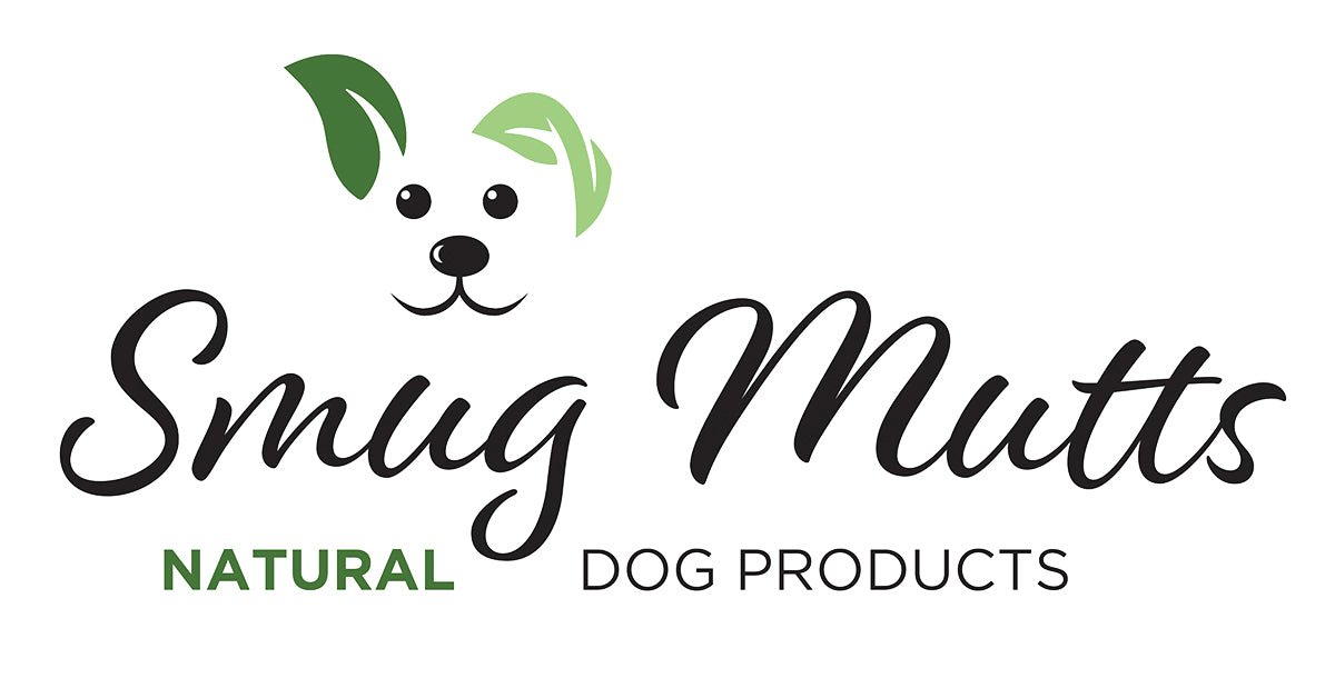 Smug Mutts Logo and Dog Icon with Green Ears Natural and Eco Friendly Dog Toys all 100% Plastic Free and Handmade in the UK