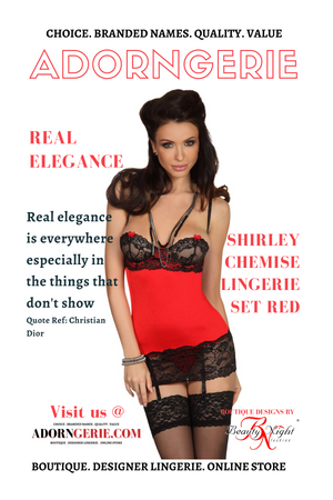Shirley Chemise Lingerie Set Red