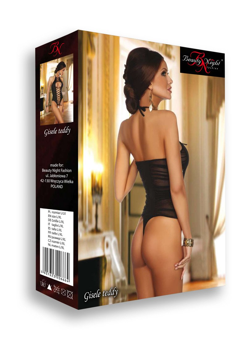 Gisele Teddy Lingerie with bag-pouch black