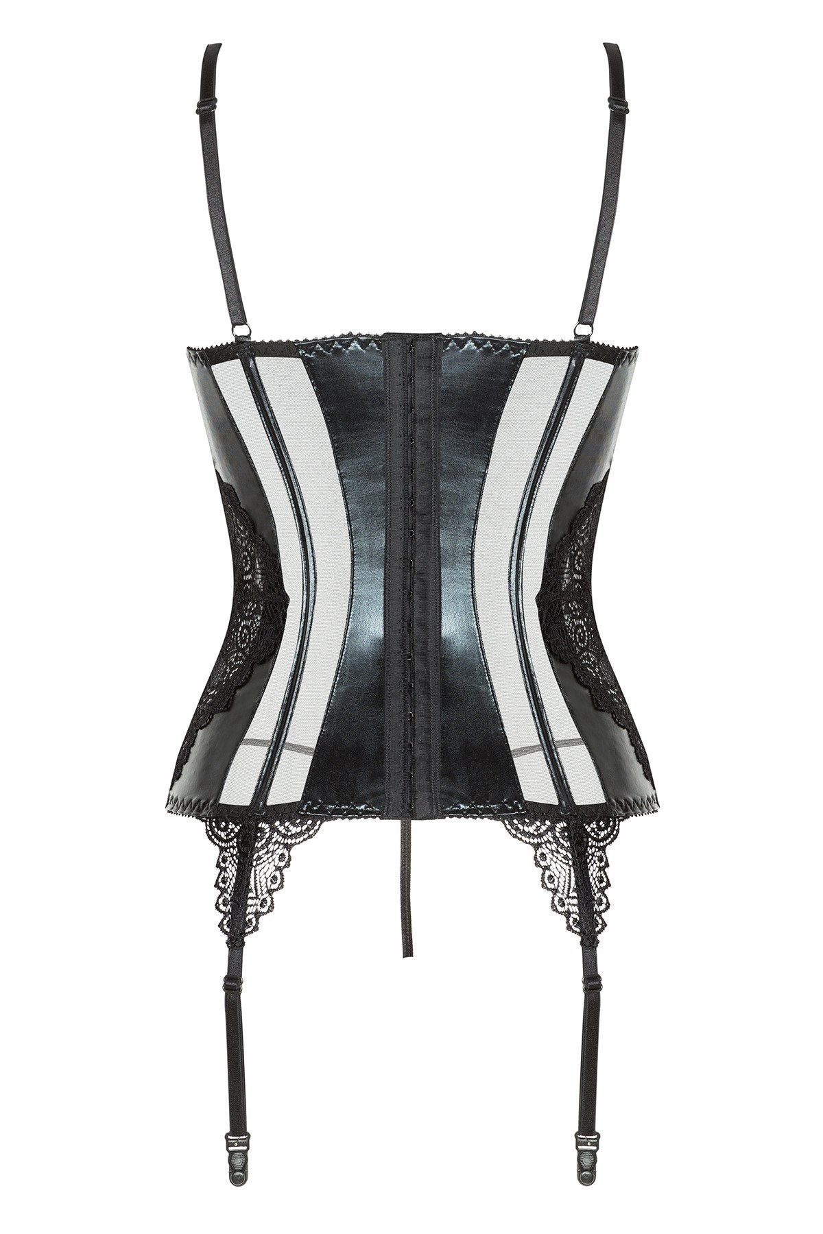 Marilyn Corset Lingerie Set black