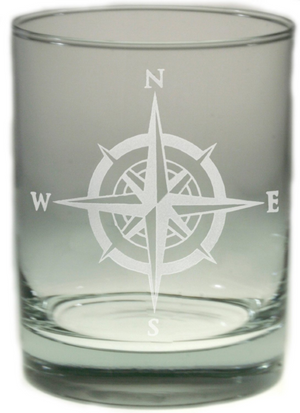 Compass Rose Double Old-Fashioned Glass