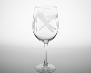 Dragonfly Wineglass