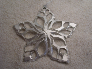 Conch Shell Star Ornament