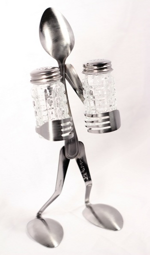 Fork and Spoon Salt & Pepper