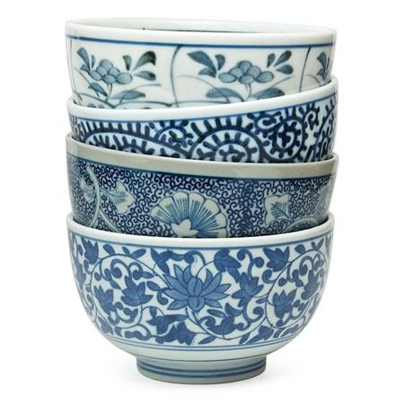 Blue Floral Bowl Set