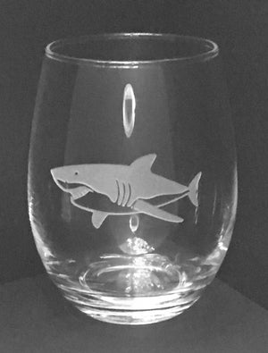 Great White Shark Wine Tumbler