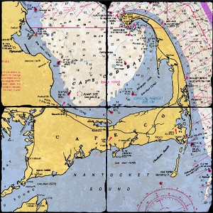 Cape Cod Map Coaster Set