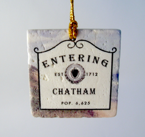 Entering Chatham Ornament