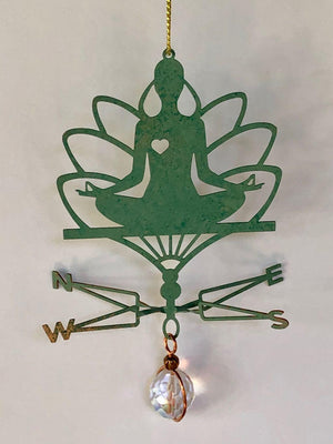 Yoga Weathervane Ornament