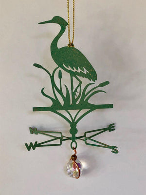 Great Blue Heron Weathervane Ornament