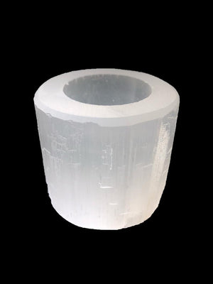 Selenite Votive Holder