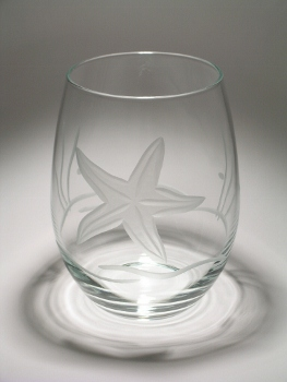 Stemless Starfish Wine Glass