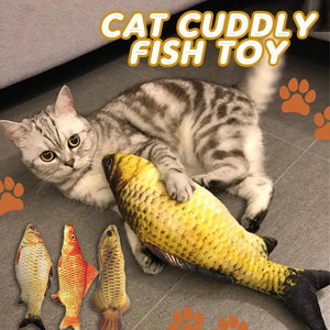Cat Cuddly Fish Toy Pet summertwinkle Grass Carp