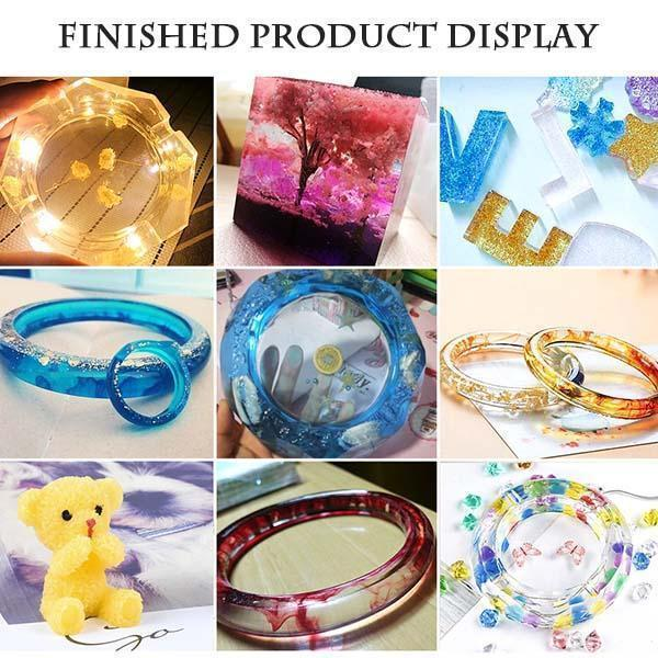 Handmade Crystal Glue Mold Set (83 Pcs) Gadgets summertwinkle