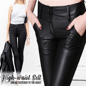 Extra-Stretchy PU Leather Legging Pants Beauty & Health summertwinkle