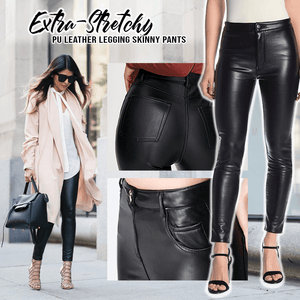 Extra-Stretchy PU Leather Legging Pants Beauty & Health summertwinkle Black S
