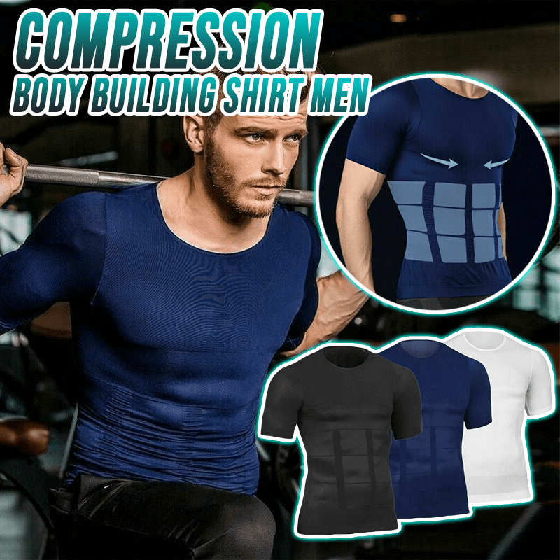 Compression Body Building Shirt Men Sports & Outdoors summertwinkle M Blue