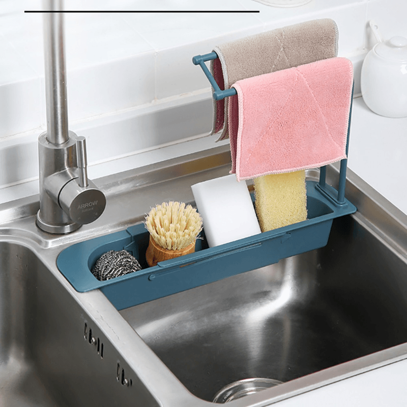 Telescopic Sink Storage Rack Kitchen MC
