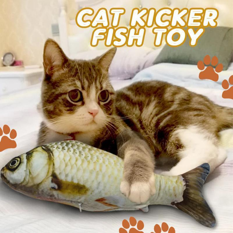 Cat Cuddly Fish Toy Pet summertwinkle