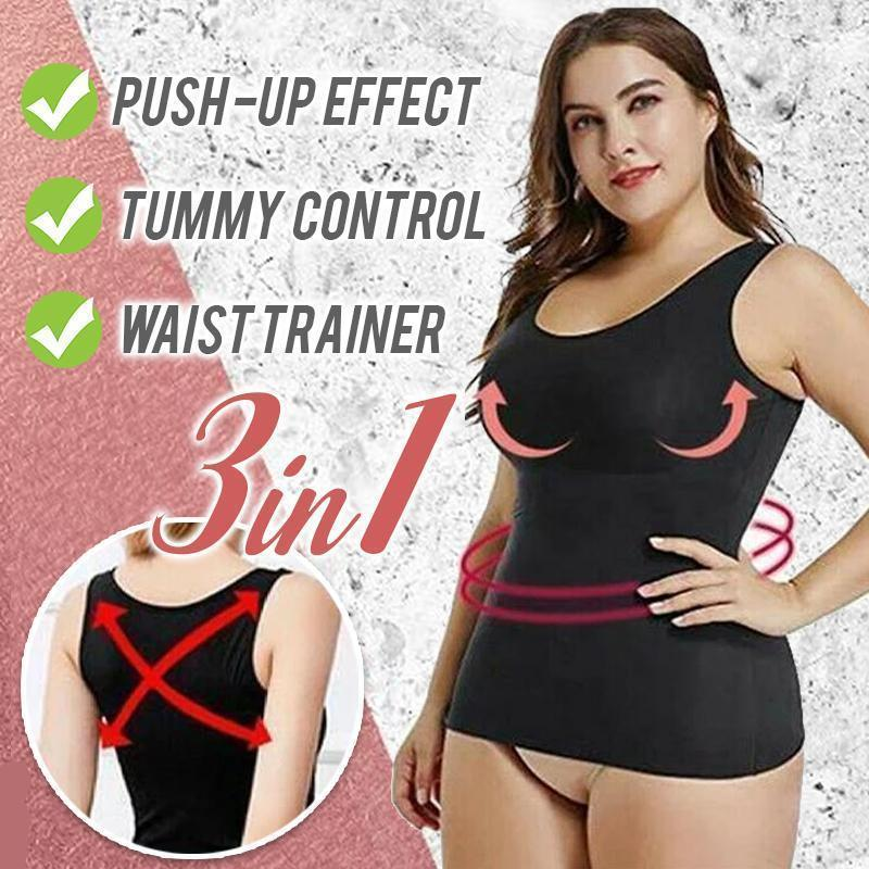 3 in 1 Sculpting Body Shaping Cami Beauty & Health summertwinkle Black XL