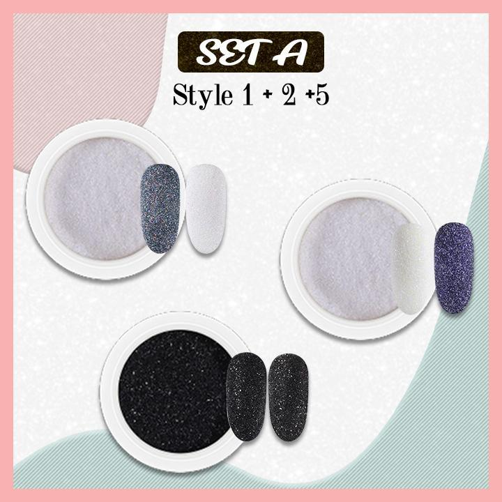 5D Velvet Sugar Nail Powder titeam
