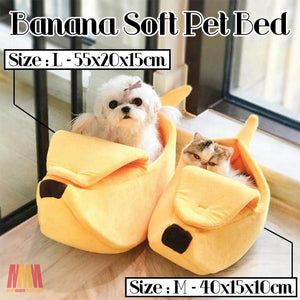 Banana Soft Pet Bed summertwinkle L - 55x20x15cm