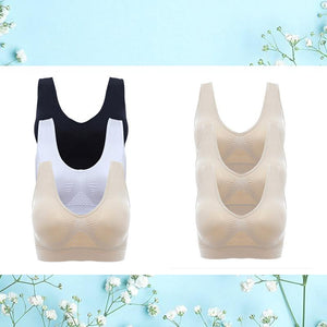 Ultra Comfort Breathable Air Bra Beauty & Health summertwinkle Set Of 3 (Black, Nude & White) S