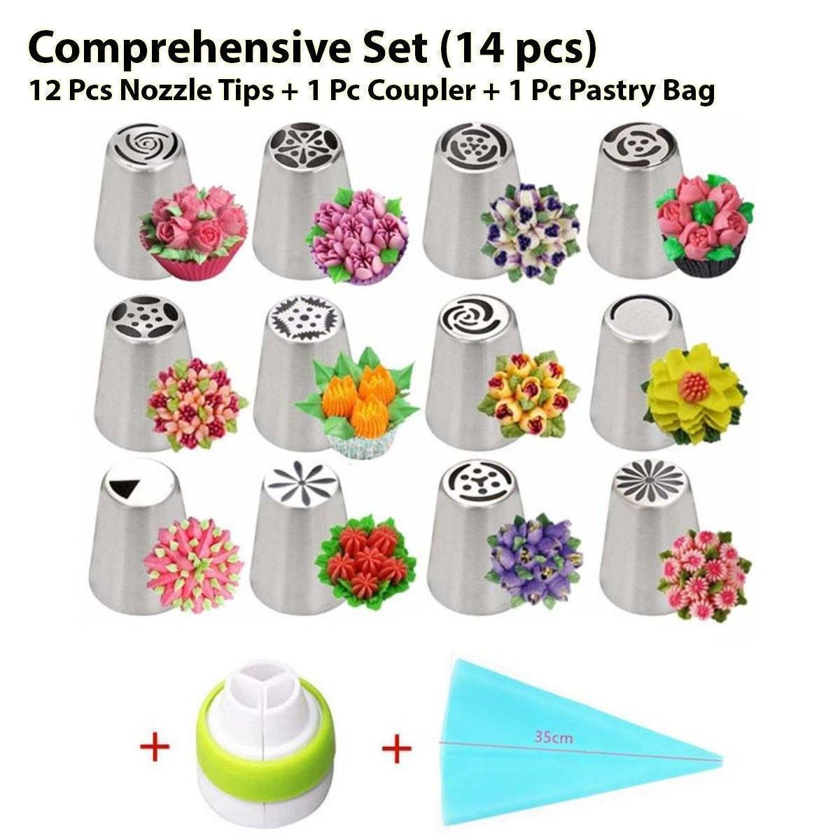 Cake & Dessert Decorating Nozzles Set Kitchen summertwinkle Comprehensive Set